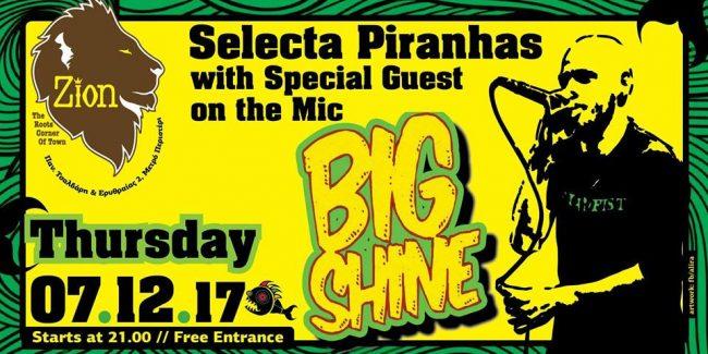 Selecta Piranha on decks & Big Shine pon da Mic
