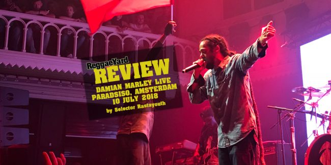 Damian Marley @Pardiso, Amsterdam, 10/07/2018, Review