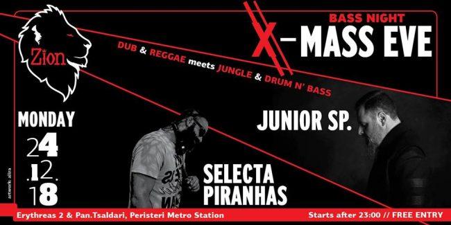 BassMass Eve at Zion, feat. Junior SP. & Selecta Piranha